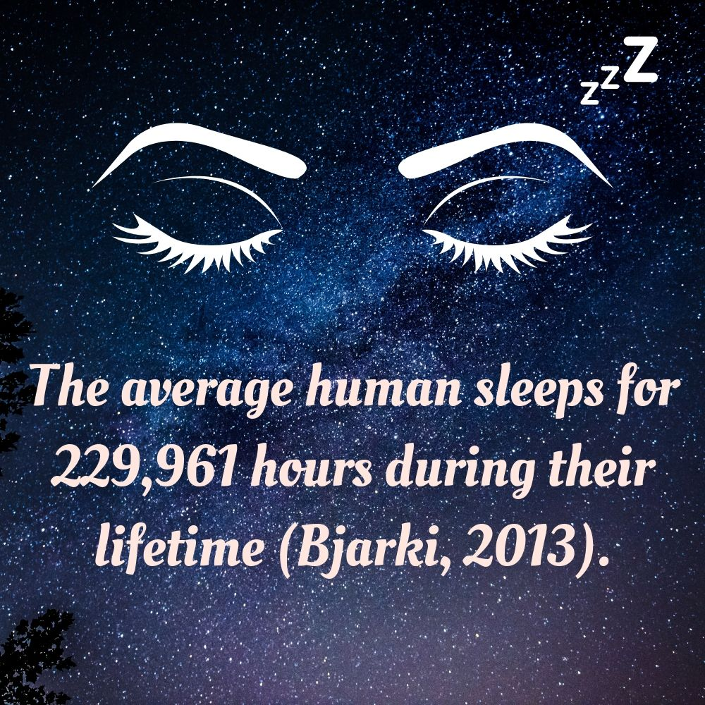 average sleep times for adults