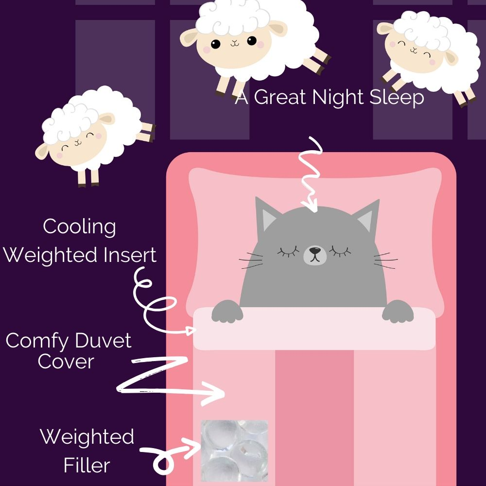 what is a weighted blanket made of