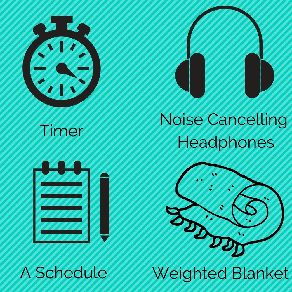 pressure therapy, timer, headphones, and a schedule as CAT examples.