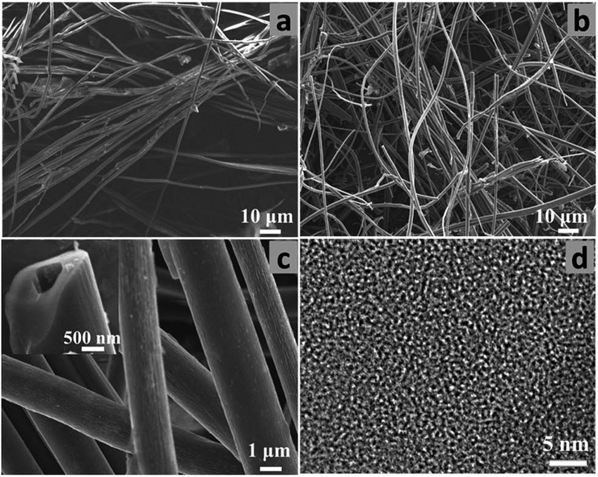 Breathable fabric under a microscope; bamboo fibres shown