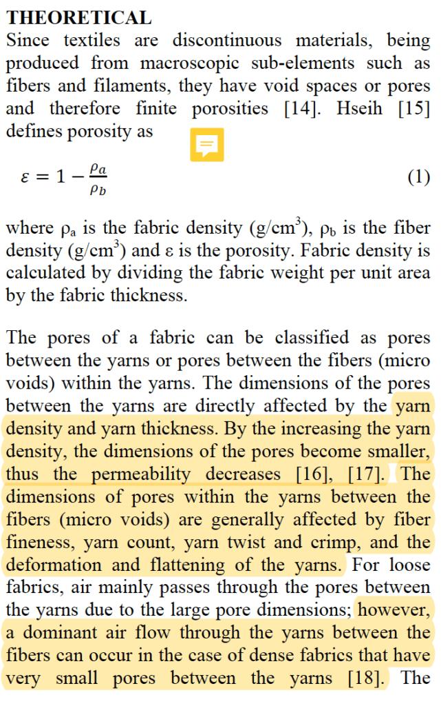 fabric breathability