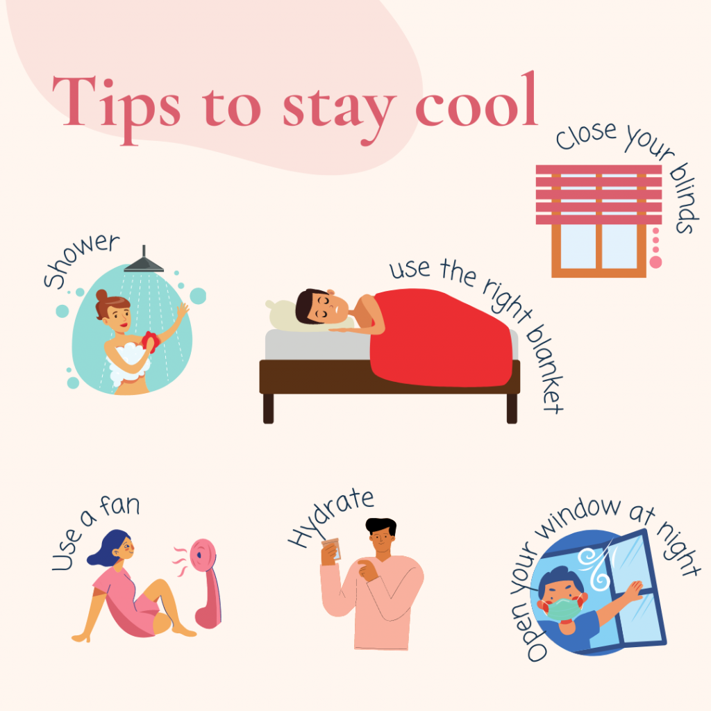tips to stay cool infographic